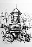 Деревянная башня старого городища