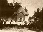 Император Николай II с Великими Князьями и свитой при посещении источника прп. Серафима. 1903 г.