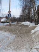 снегопад. это не речная ул, а пр.Октябрьский, но так примерно везде