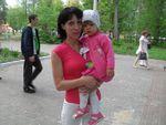 Мама Настя Лобанова с дочкой Ариной